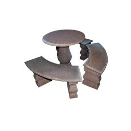 Գրանիտ» սեղան 3 աթոռով Granite coffe t