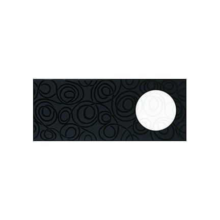 Դեկոր 20x50 Chardonet Negro-Blanco