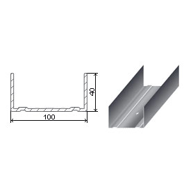 Պրոֆիլ ցինկապատ U 100x40x0.6 3 մ