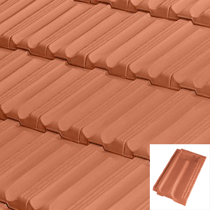 Կղմինդր 43սմx25.2սմ, Red Alicantina Flat Roof Tile
